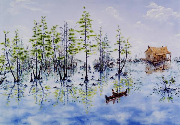 Swamp Art Print featuring the painting Spanish Moss by Richard Barham