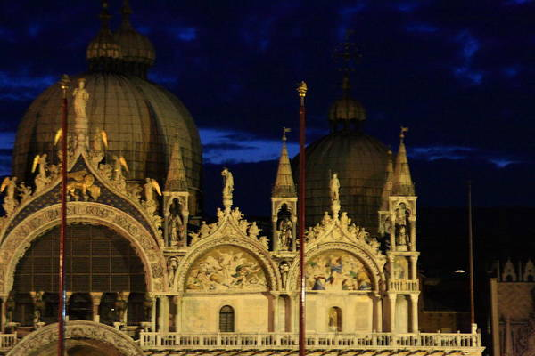 Venice Art Print featuring the photograph St. Mark's Basilica at Sunrise by Michael Henderson