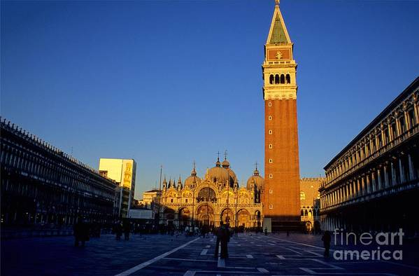 Italy Art Print featuring the photograph St Marks In Venice In Afternoon Sun by Michael Henderson