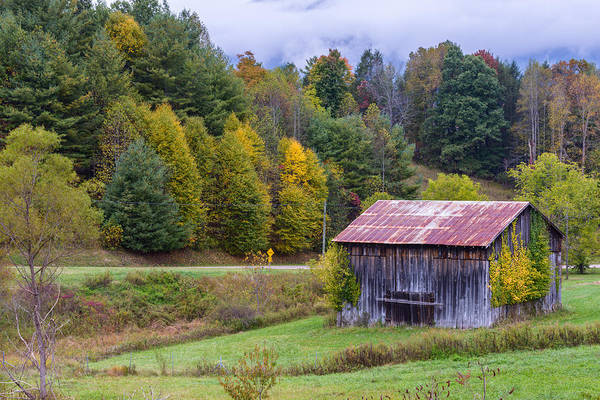 Blue Ridge Parkway Art Print featuring the photograph Tenessee Roadside Barn by Rick Dunnuck
