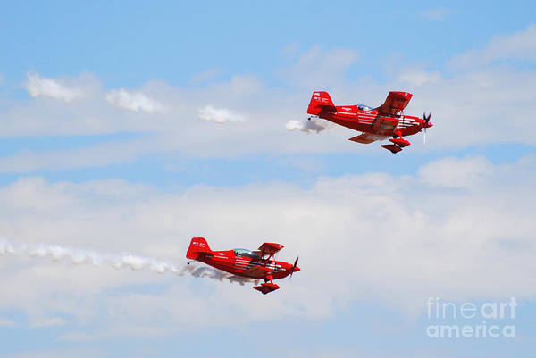 Stunts Art Print featuring the photograph Stunt Pilots by Larry Keahey