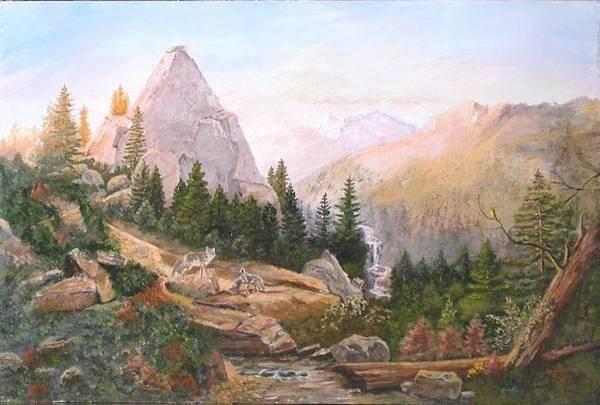 Landscape Art Print featuring the painting Sugarloaf Peak Eldorado California by Nicholas Minniti