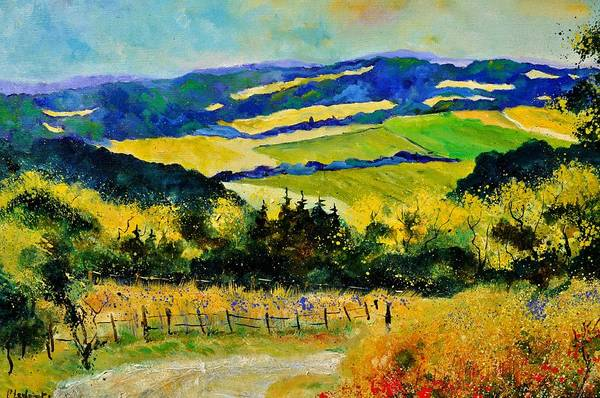 Landscape Art Print featuring the painting Summer Landscape by Pol Ledent