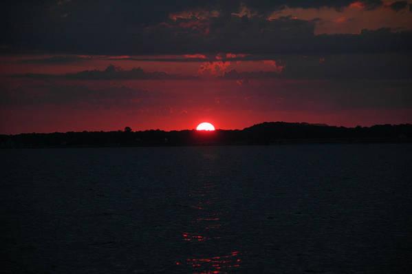 Fishing Art Print featuring the photograph Sunrise On The Chesapeake Bay by Marc Van Pelt