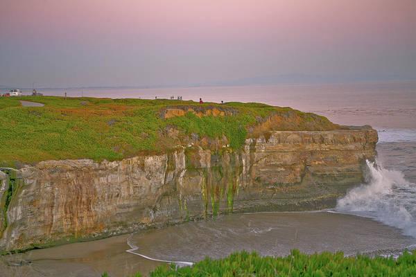 Sunset Art Print featuring the photograph Sunset Santa Cruz Coast by Liz Santie