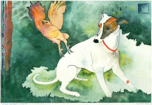 Watercolor Art Print featuring the painting The Break in the Forest by Eileen Hale