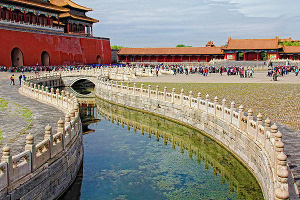Beijing Art Print featuring the photograph The Forbidden City by Marla Craven