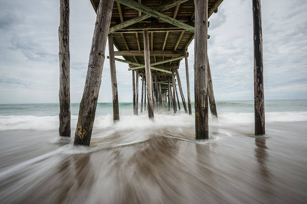 Outer Banks Art Print featuring the photograph The Outer Banks North Carolina Fishing Pier by Rick Dunnuck