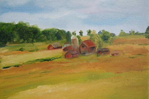 Barn Art Print featuring the painting The Red Barn by Lisa Konkol