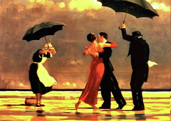 Jack Vettriano Art Print featuring the painting The Singing Butler by Jack Vettriano