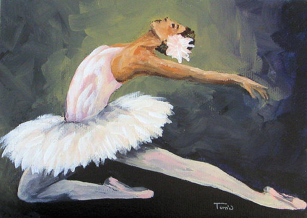 Ballet Art Print featuring the painting The Swan by Torrie Smiley