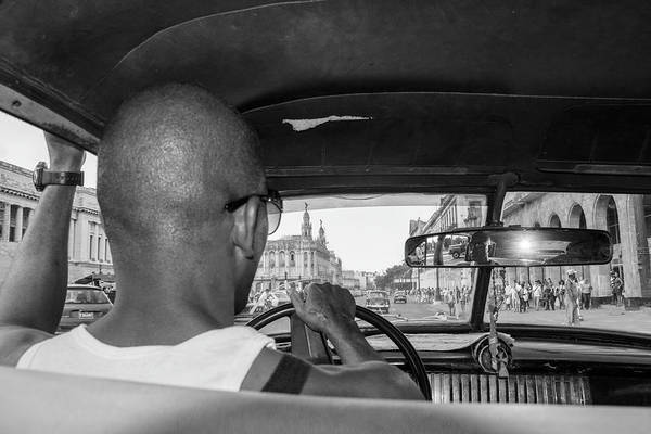 Cuba Art Print featuring the photograph From the Taxi by Marla Craven