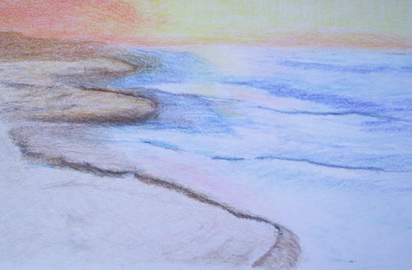 Landscape Art Print featuring the drawing Tide is Out by Suzanne Udell Levinger