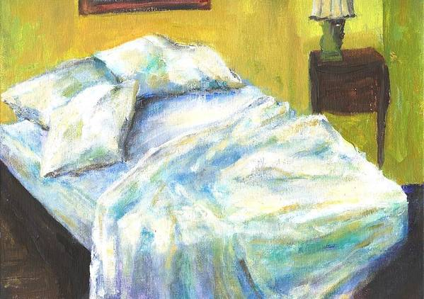 Bed Art Print featuring the painting Tribute to Marc by Randy Sprout