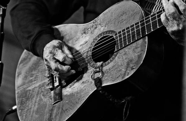 Willie Nelson And His Guitar Trigger. Art Print featuring the photograph Trigger and Willie by Ty Helbach
