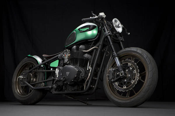 Triumph Art Print featuring the photograph Triumph Green Bobber by Keith May