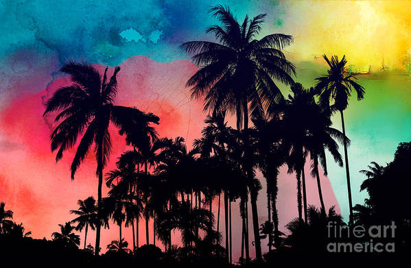 Art Print featuring the painting Tropical Colors by Mark Ashkenazi