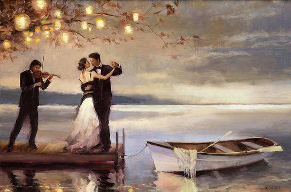 Romantic Art Print featuring the painting Twilight Romance by Steve Henderson