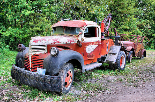 Old Truck Art Print featuring the photograph Two for One by Kristin Elmquist