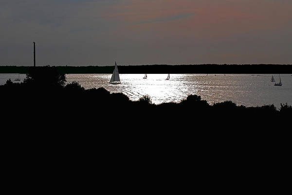 Boat Art Print featuring the photograph Under Sail by Mark Wiley