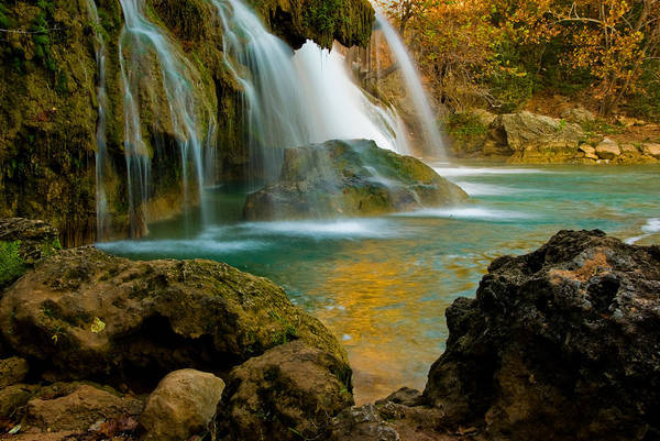 Landscape Art Print featuring the photograph Unite Perspective of Turner Falls by Iris Greenwell
