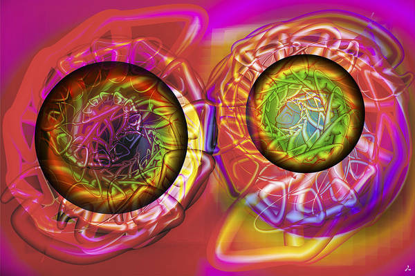 Crazy Art Print featuring the digital art Vision 42 by Jacques Raffin