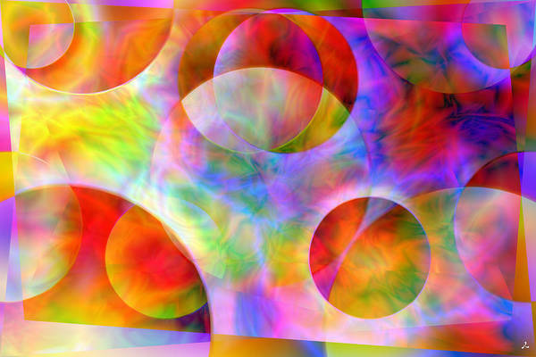 Colors Art Print featuring the digital art Vision 29 by Jacques Raffin