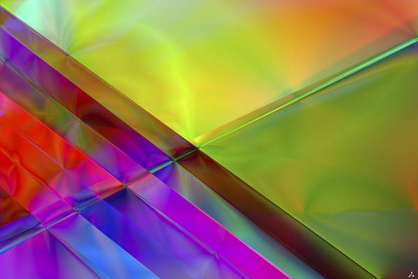 Colors Art Print featuring the digital art Vision 3 by Jacques Raffin
