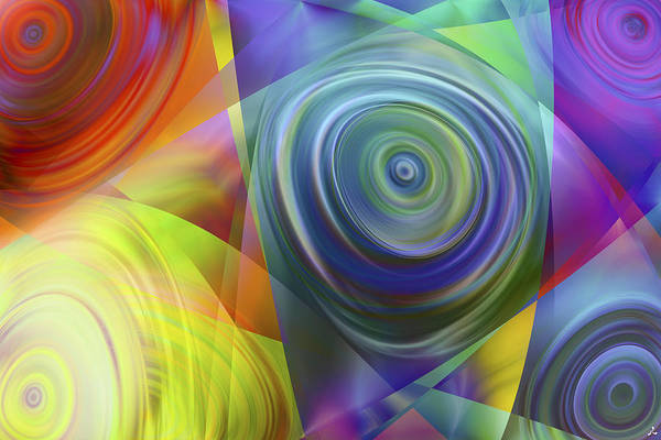 Colors Art Print featuring the digital art Vision 39 by Jacques Raffin