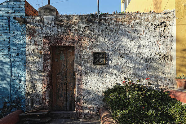 Wall Art Print featuring the photograph Wall And Doorway, San Miguel 2016 by Chris Honeyman