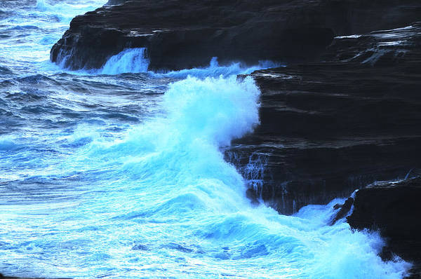 Ocean Art Print featuring the photograph Where The Land Meets The Ocean by Richard Henne