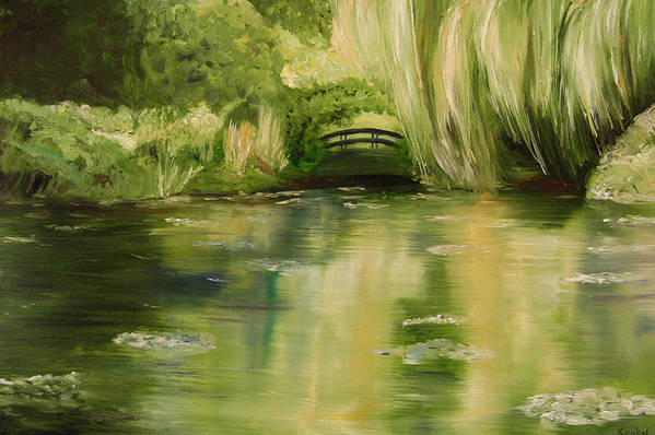 Konkol Art Print featuring the painting Willow at Monet by Lisa Konkol