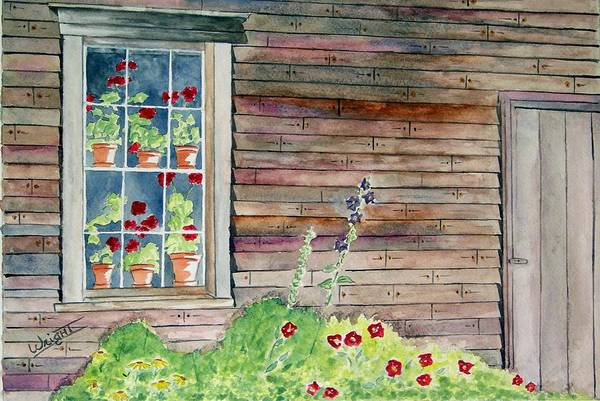 Maine Art Art Print featuring the painting Wyeth House In Tempera Paint by Larry Wright