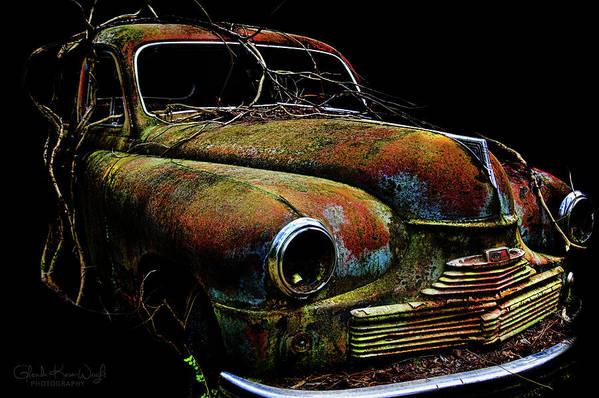 Vintage Car Art Print featuring the photograph Ye Ol Vanguard by Glenda Wright