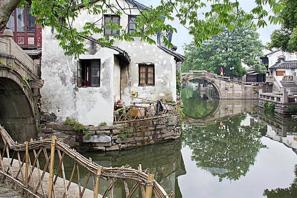 China Art Print featuring the photograph Zhouzhuang - A Watertown by Marla Craven