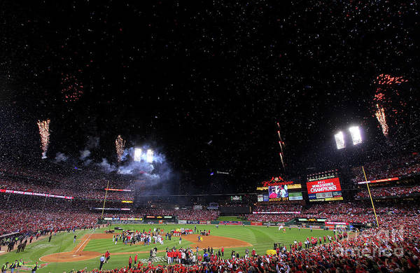 American League Baseball Art Print featuring the photograph 2011 World Series Game 7 - Texas by Doug Pensinger