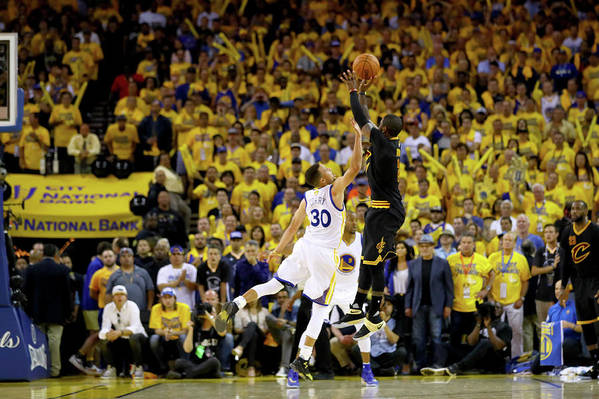 Playoffs Art Print featuring the photograph 2016 Nba Finals - Game Seven by Ezra Shaw