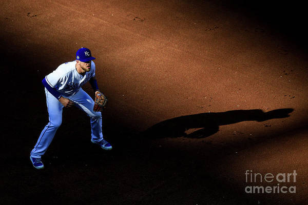 American League Baseball Art Print featuring the photograph Boston Red Sox V Kansas City Royals by Brian Davidson