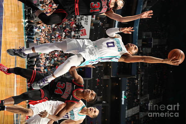 Chicago Bulls Art Print featuring the photograph Chicago Bulls V Charlotte Hornets by Kent Smith