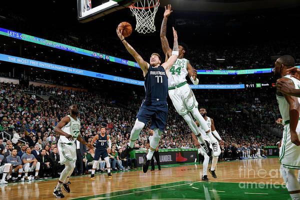Nba Pro Basketball Art Print featuring the photograph Dallas Mavericks V Boston Celtics by Brian Babineau