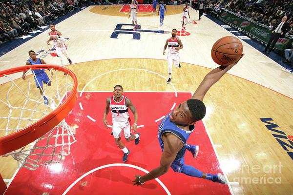 Nba Pro Basketball Art Print featuring the photograph Dallas Mavericks V Washington Wizards by Ned Dishman