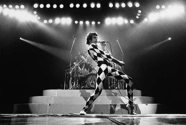 Freddie Mercury Art Print featuring the photograph Freddie Mercury Of Queen by George Rose