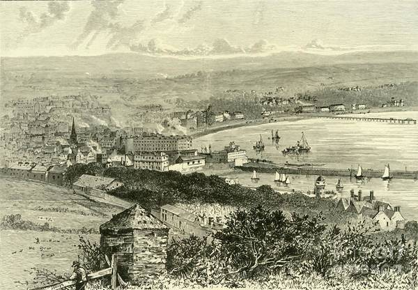 Event Art Print featuring the drawing General View Of Douglas by Print Collector