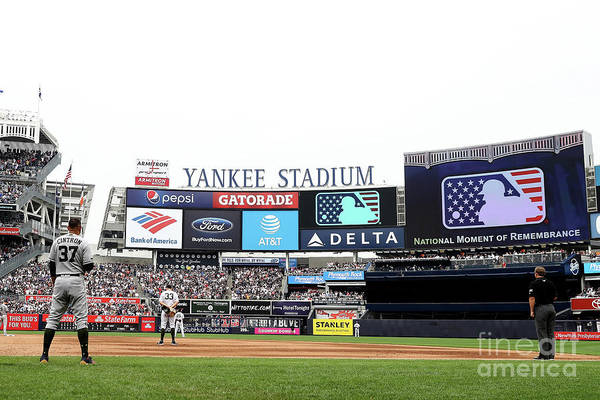 American League Baseball Art Print featuring the photograph Houston Astros V New York Yankees by Elsa