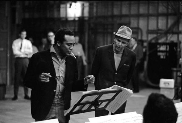Working Art Print featuring the photograph Jones & Sinatra In Studio by John Dominis