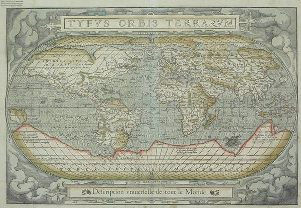 South America Art Print featuring the photograph Map Of The World by Hemera Technologies