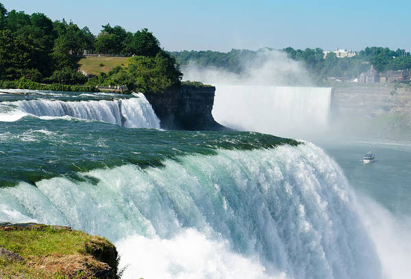 Scenics Art Print featuring the photograph Niagara Falls From The Usa Side by Franckreporter