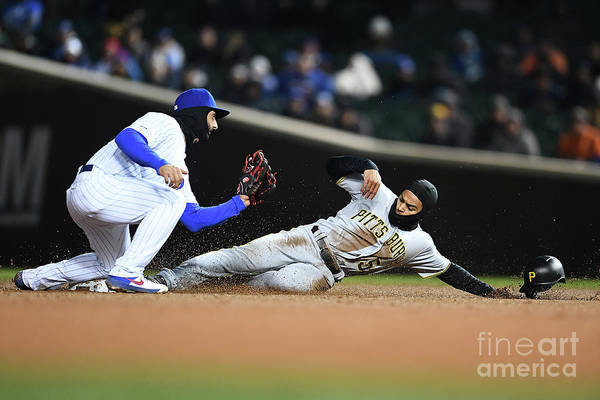 People Art Print featuring the photograph Pittsburgh Pirates V Chicago Cubs by Stacy Revere