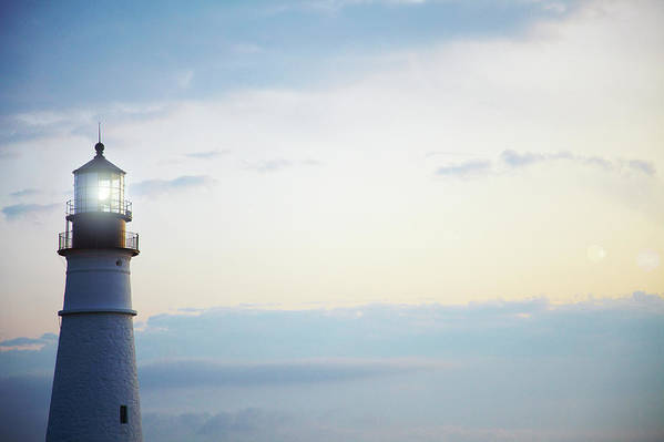Outdoors Art Print featuring the photograph Portland Head Lighthouse At Sunrise by Thomas Northcut
