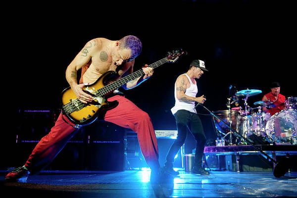 Event Art Print featuring the photograph Red Hot Chili Peppers Perform At O2 by Neil Lupin